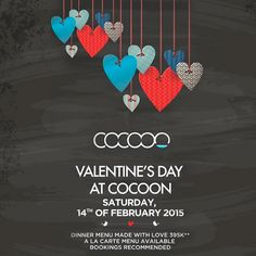 Valentine's Day at Cocoon Event Flyers, Drinking, Valentines Day, Playing Cards, Drinks, Valentine's Day Diy, Drink, Velentine Day, Playing Card Games
