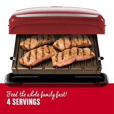 George Foreman Removable Plate Grill and Panini Press Red *** Find out more about the great product at the image link. (This is an affiliate link) Grill Machine, Portable Dishwasher, George Foreman Grill, Perfect Grill, Panini Press, Grill Plate, Tasty, Yummy Food, Delicious Meals