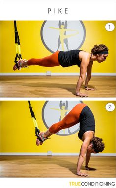 Get defined shoulders and flat abs with the TRX Pike.
