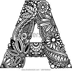 Doodle Art Name, Doodle Art Letters, Cute Doodle Art, Doodle Art Designs, Doodle Art Drawing, Girl Drawing Sketches, Zentangle Drawings, Art Drawings Sketches Simple, Name Art
