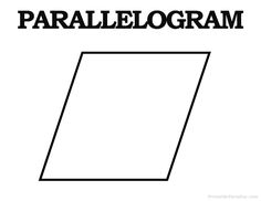 Free Printable Large Full Page Parrallelogram Shape for Crafts. Parrallelogram Shape for Kids Activities and Learning. Printable Parrallelogram Shape to Cut Out for Projects. Free Preschool, Preschool Printables, Preschool Activities, Shapes For Kids, Free Shapes, Printable Shapes, Kids Homework, Shape Templates, Kids Learning