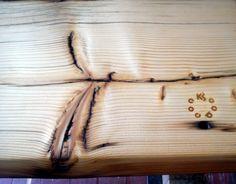 Reclaimed wood, detail logo