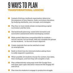 9 Ways to Plan Transformational Lessons | Edutopia