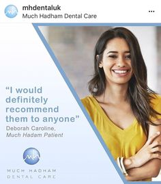 """I have been a patient with Erika for nearly 10 years. The practice is always very friendly, smart, well organised and up to date. I would definitely recommend them to anyone. Dental Health, Dental Care, Invisible Braces, Teeth Straightening, Root Canal Treatment, Simply Life, Perfect Smile, Dental Services, Oral Hygiene"
