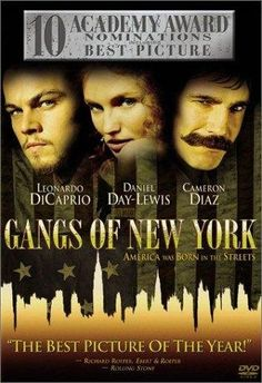 Gangs of New York, absolutely love this movie. But the cover makes it seem like Caremark Diaz is Daniel day-Lewis and vice versus...