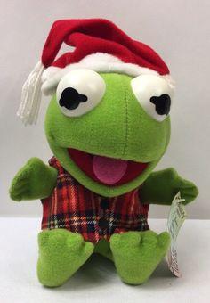 McDonalds Plush Muppet Baby Kermit 1988 Christmas Holiday Santa Stuffed Animal #McDonalds Muppet Babies, Kermit The Frog, Cereal Recipes, Mcdonalds, Pet Toys, Vintage Toys, Christmas Holidays, Dinosaur Stuffed Animal, Childhood