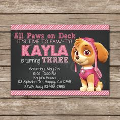 Skye from Paw Patrol Digital File You Print by SusysPaperCrafts