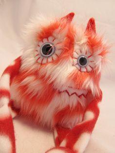 Plush Monster Cute Monster CUPID handmade by PinkSprinklesPlush, $18.00