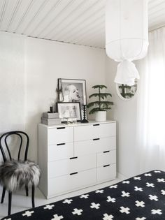 Ikea 'Nordli' dresser in bedroom