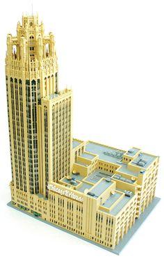 lego Chicago's Tribune Tower Building For Kids, Lego Building, Sims 4, Big Lego, Amazing Lego Creations, Lego Boards, Lego House, Lego Models, Lego Projects