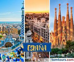 Viaje a #España con las mejores tarifas en aéreos del mercado o con nuestros paquetes completamente personalizados. No se pierda la oportunidad de vivir este destino majestuoso. Para reservar sus vuelos comuníquese al (212) 947-3131. #SomosLatinoamérica #TomTours #Europa