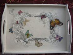 decoupage taca motylkiem - Szukaj w Google