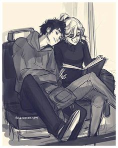 I want this… I am jealous of a drawing/sketch of a fictional couple… I don't care because I really want this type of relationship