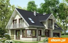 A successful project of a small cozy one and a half story house! Very convenient - BE IN THE TOPIC Rustic Houses Exterior, Tiny House Exterior, Modern Bungalow House, Bungalow House Plans, Lake House Plans, New House Plans, Beautiful House Plans, Cottage Plan, Cottage Style Homes