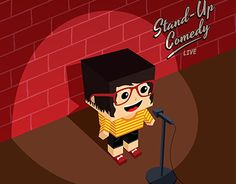 """Check out new work on my @Behance portfolio: """"Stand up Comedy Show - Isometric cartoon"""" http://be.net/gallery/33895318/Stand-up-Comedy-Show-Isometric-cartoon"""