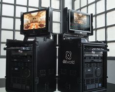 DIT workstations that handle the material of all digital cameras Penthouse Suite, Luxury Penthouse, Data Rack, Futuristic Helmet, Home Basketball Court, Space Lab, Road Cases, Modern Tech, Video Production