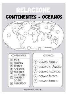 Notebook da Profª: Introdução à Geografia (Parte III) - Continentes e Oceanos