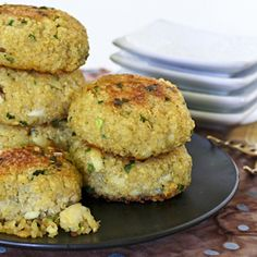 Quinoa Chives Fish Cakes.  Tasty gluten free, made with cod and garlicky Chinese chives. Wonderful as an appetizer, snack, or light meal.