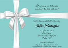 Tiffany Blue Bow - Bridal Shower, Bridal Luncheon, Baby Shower Invitation - INCLUDES Return Address Printing. $0.85, via Etsy. #tiffany co #Jewelry