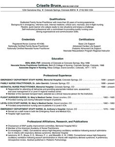 family nurse practitioner Resume Example | resumes | Pinterest ...