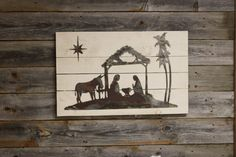 Nativity with Star- Thin Metal Shape Only – Rustic Metal Letters & Wall Art Christmas Art, Christmas Decorations, Metal Letters, Rustic Decor, Nativity, Moose Art, Decor Ideas, Shapes, Wall Art