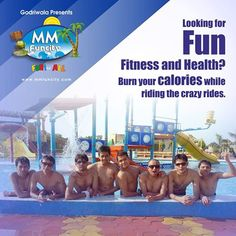 Looking for #Fun, Fitness and #Health ?  Burn your calories while riding the crazy #rides at #MMFunCity