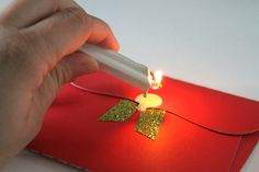 How to make the perfect Santa Letter, sealing in wax and stamped with Clear Stamps