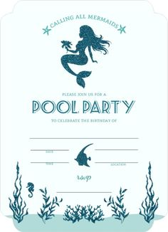 Mermaid Party Invitation Free Printable  Lets Party