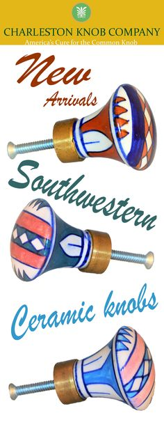 #new arrivals #southwestern flair ceramic knobs