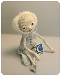 Art Doll OOAK Lonely Moon Doll Art Doll Ornament by theFiligree. $55.00, via Etsy.