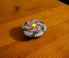 Hand Painted Dot Art Spiral Stone Magnet~ Original Painted Rocks ~ Home Decor Ornaments~Gift Ideas ~ Beach Stones by P4MirandaPitrone on Etsy