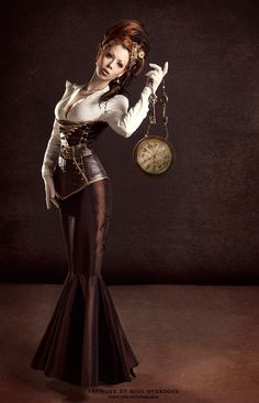 steampunk fashion shot - love the leather corset