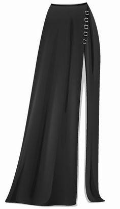 Truques Stardoll Hoje ♥: Tendências com sua doll: Saia longa com fenda Fashion Hub, Gothic Fashion, Girl Fashion, Black Dress Outfits, Classy Outfits, Women's A Line Dresses, Modele Hijab, Haute Couture Dresses, African Fashion Dresses
