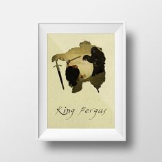 BRAVE King Fergus Disney Inspired Collage Art Wall Decor by YOUTOM