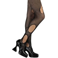 b9e312c9014 These Fishnet Pantyhose feature manufactured tears throughout for the  perfect touch to your unhappily ever after
