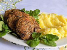 Recept Hlívové karbanátky - Naše Dobroty na každý den Tandoori Chicken, Pesto, Steak, Pork, Turkey, Treats, Ethnic Recipes, Fit, Pork Roulade