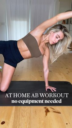 Ab Core Workout, Gym Workout Tips, Fitness Workout For Women, Workout Videos, Yoga Fitness, Fitness Tips, Gym Workout For Beginners, Abdominal Exercises, Outdoor Workouts