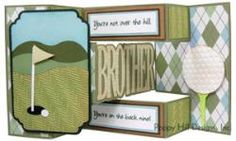 Tri-Shutter Card - BROTHER.  Cut with your own electronic cutting machine.  Visit our webpage for details.