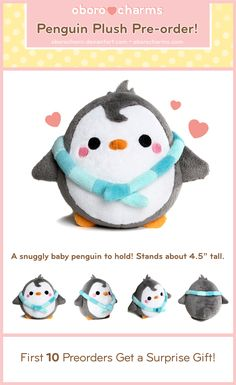 Penguin Plushie by Oborochann.deviantart.com on @deviantART