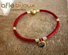 African Bracelet Aflé Bijoux Red Leather Bracelet #aflebijoux #bijoux #etsy #jewelry