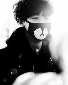 Chanyeol (Exo)  even with the mask you can still tell he's smiling... From his eyes.. He's such an incredibly beautiful person.. A radiant soul...