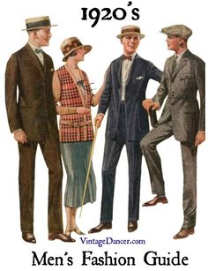 1920s mens fashion: suits