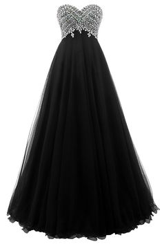 HONGFUYU Gorgeous Sweetheart Bridesmaid Prom Dresses Beaded Long Evening Gowns Black US22W. Made of high quality tulle. Beaded bodice,sweetheart,lace up back. Please read our size chart image on the left carefully before you order the dress.Can be custom made according to your measurements without extra charges. Estimated delivery is set automatically by Amazon,Need 10 days for processing, 5 days for shipping by DHL or UPS. For more beautiful and affordable dress, please click our store...