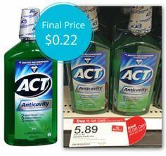 ACT Mouthwash, Only $0.22 at Target!