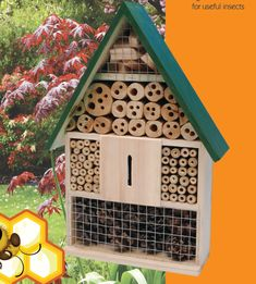 Image result for insect hotels Insect Hotel, Bungalows, Insects, Hotels, Bird, Holiday Decor, Outdoor Decor, Summer, Image