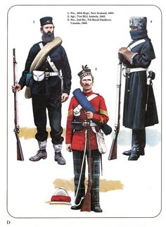 1:Pte.,40th Regt. New Zealand,1863.2:Sgt.,71st HLI;Ambela 1863.3:Pte.,2nd Bn.,7th Royal Fusiliers;Canada 1866.