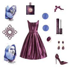 """""""amethyst"""" by marifimarina ❤ liked on Polyvore featuring Bounkit, tarte and Yves Saint Laurent"""