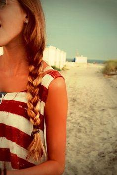 cute summer braid