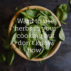 Wondering what culinary herbs pair well with what types of foods? Want to know what kitchen herbs to use with cheese, meat or seafood? Use our handy quick reference guide and avoid the guesswork! Herb Guide, Kitchen Herbs, Super Foods, Diy Spa, Cauldron, Healthier You, Types Of Food, Spinach, Herbalism