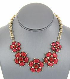 Bubble Acrylic Flower Link Necklace